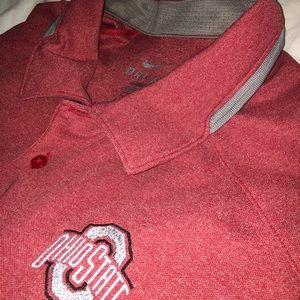Nike DriFit Polo Ohio State Buckeyes OSU Mens